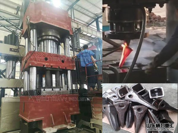 1500吨快速斗齿锻造液压机